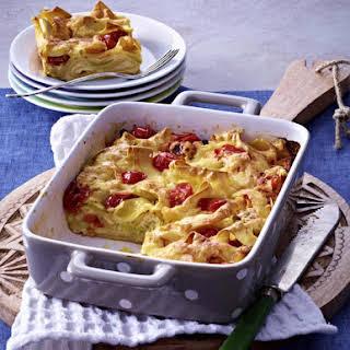 Cherry Tomato Pasta Bake.