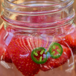Strawberry Jalapeno Iced tea.