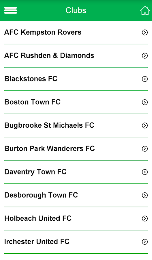 United Counties League- screenshot