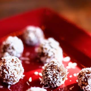Coconut Quinoa Date Nut Snowballs.