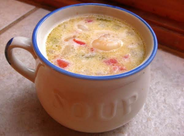 Yummy Corn And Shrimp Soup