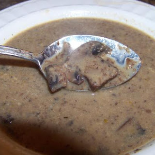 Mother Rimmy's Light and Creamy Crimini Mushroom Soup.