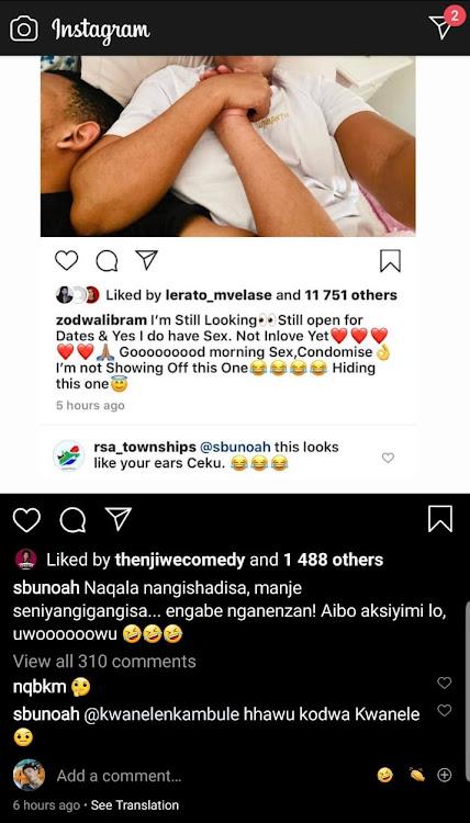 Sbu Noah's Instagram.