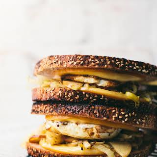 Apple Fennel Fall Fried Egg Sandwich.