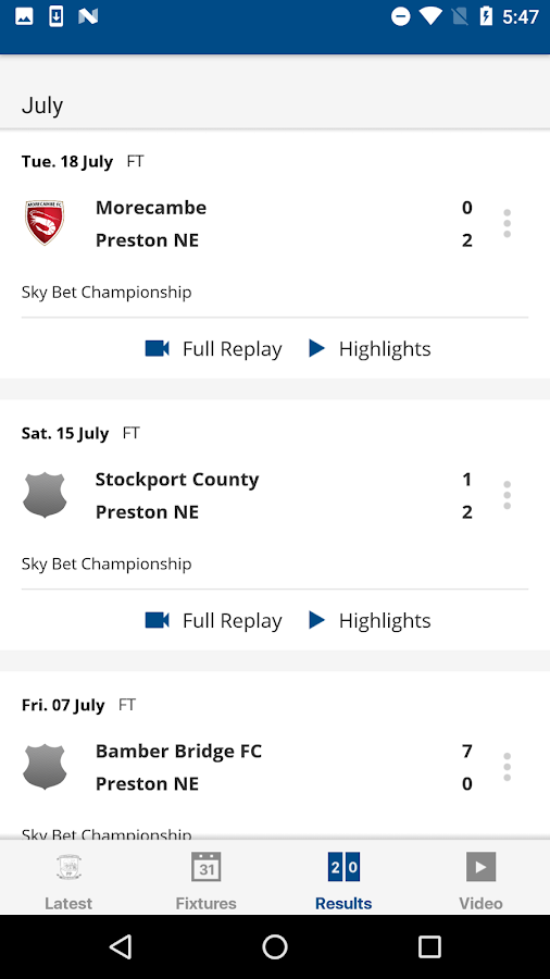 Preston North End Official App- screenshot
