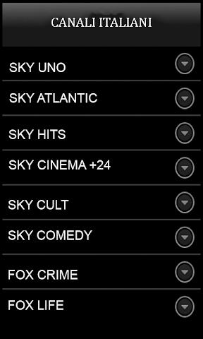 android Sky TV italienne Mediaset Rai Screenshot 1