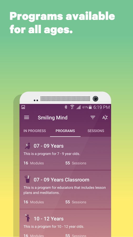 Smiling Mind- screenshot