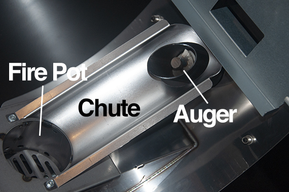 Weber SmokeFire pellet chute