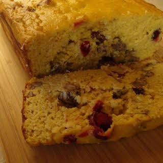 Cranberry Orange Pound Cake with Pecans.