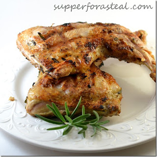 Bobby Flay's Rosemary Bricked Chicken for #SundaySupper