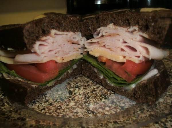 Turkey, Spinach & Gouda Sandwich On Pumpernickle Recipe