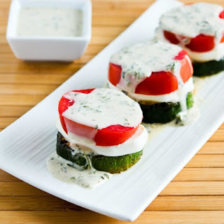 Grilled Zucchini Caprese Stacks with Basil Vinaigrette