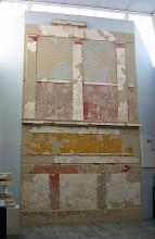 """Photo: Een """"Pompeaanse"""" wand uit de 2de eeuw v.C.!"""