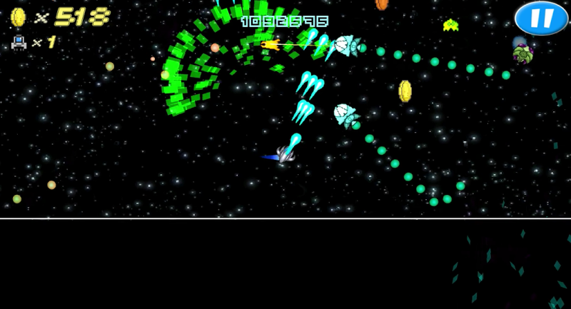 Скриншот космическая война аркада