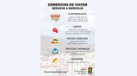 Listado de empresas elaborado por el Ayuntamiento.