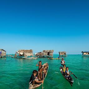 Paradise Sabah  by Mata Arif - Transportation Boats