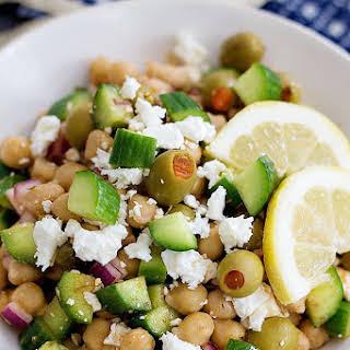 Greek Chickpea Salad.