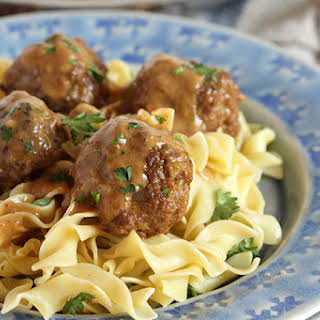 Simple Swedish Meatballs.