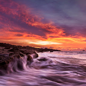 Hot Flow by Sonny Saban - Landscapes Waterscapes ( sunsets, stone, sea, beach, travel, rote ndao )