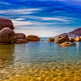 Cosy bay by Crighton Klassen - Landscapes Beaches ( sky, sunny, beach, rocks, cape town )