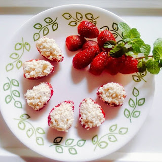 Strawberry Sandesh.