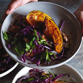 WARM PUMPKIN, QUINOA AND CABBAGE SALAD