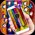 Цветные древесная тема росписи icon