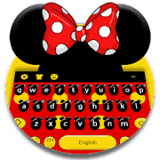 Cute Micky Bow keyboard Theme APK for Bluestacks
