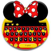 Cute Micky Bow keyboard Theme