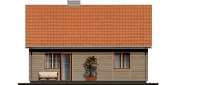 D80 - Filip wersja drewniana - Elewacja tylna