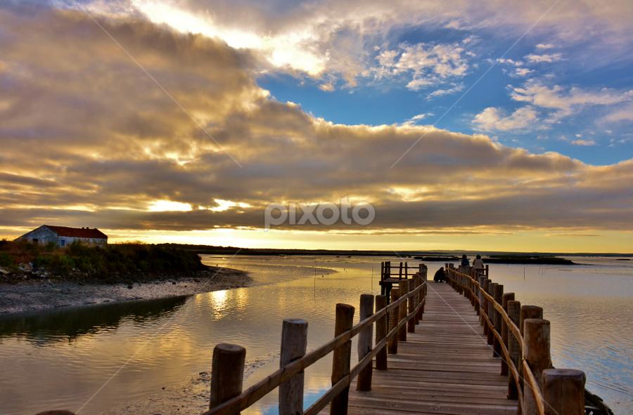 No  meu  rio Sado by Atílio Alves - Landscapes Sunsets & Sunrises