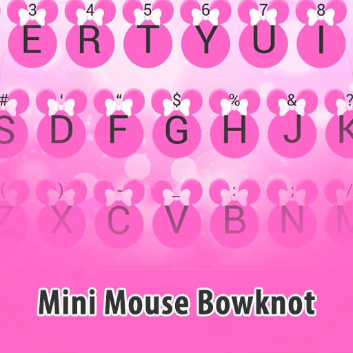 Mini Mouse Bowknot Theme&Emoji Keyboard