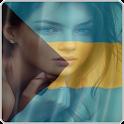 Bahamas Flag Face icon