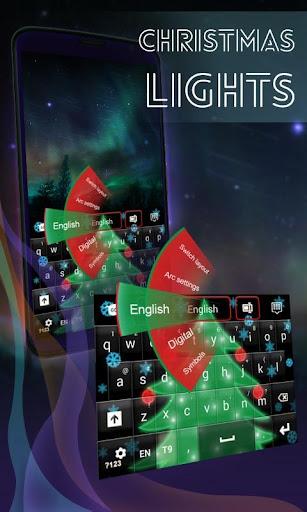 クリスマスライトのGOキーボード