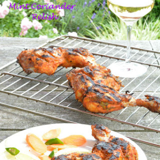 Tandoori chicken with Mint Coriander relish