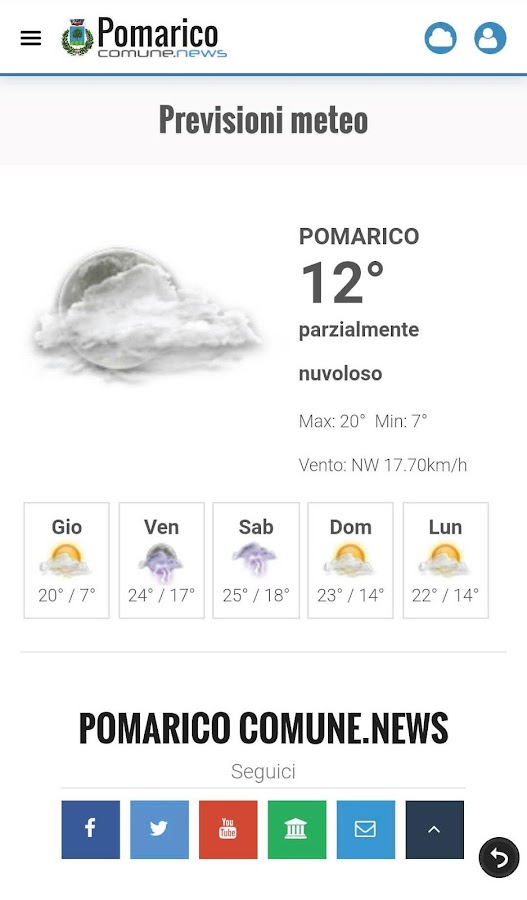 Pomarico ComuneNews- screenshot
