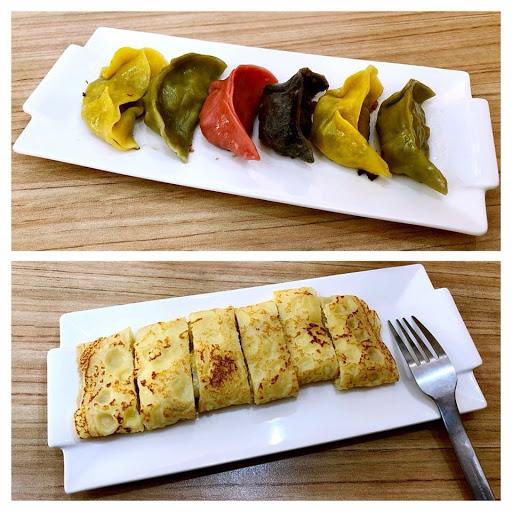 彩色煎餃蠻特別的~ 素食也可以來吃的早餐店