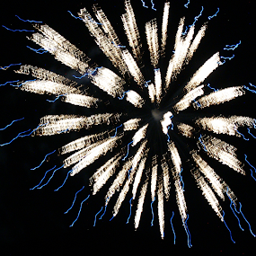 Fireworks by Jessie Dautrich - Abstract Fire & Fireworks ( sparkles, colorful, firework, beautiful, 4th of july, fire,  )