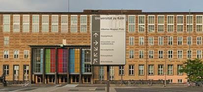Panorama: Uni-Köln, Hauptgebäude.