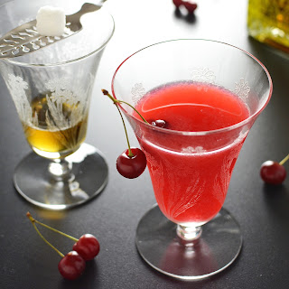 Sour Cherry Absinthe Cocktail.