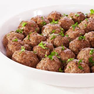 Braised Sicilian Lamb Meatballs.