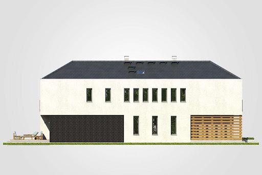 Modern House II - Elewacja lewa