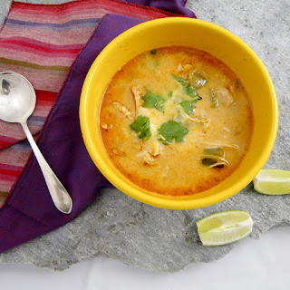 Chicken, Chile And Tomatillo Soup.