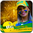 Brazil Independence Day Photo Frame: Face Flag APK