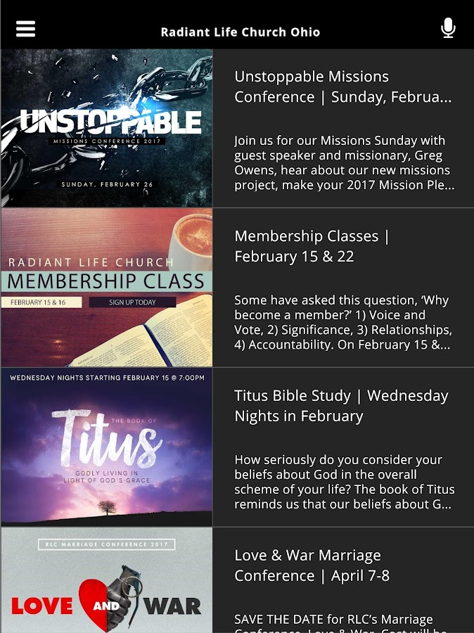 Radiant Life Church Ohio- screenshot