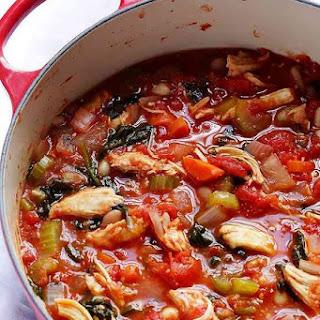 Tomato Basil Chicken Stew.