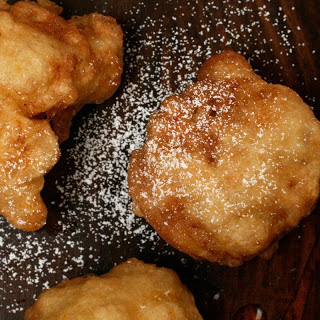 Honey Fritters with Blood Oranges.