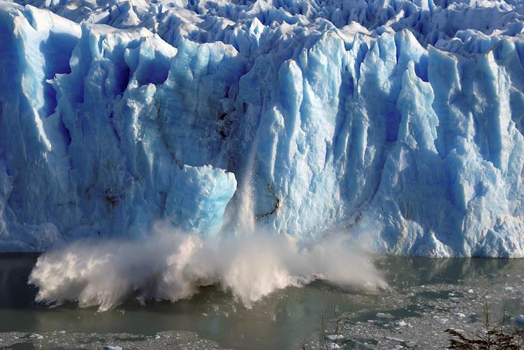 Ice peels off from the Perito Moreno glacier in the Patagonian province of Santa Cruz, Argentina. Picture: REUTERS/ANDRES FORZA