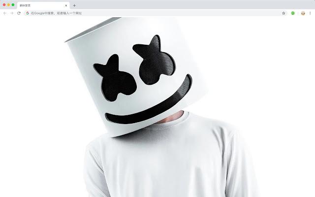 Marshmello HD New Tabs Popular DJ Themes