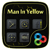 Man In Yellow GoLauncher Theme